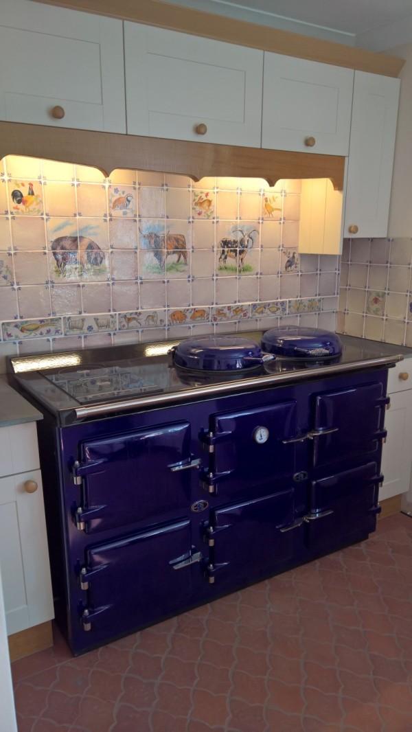 AGA Cooker, 5 oven Royal Blue