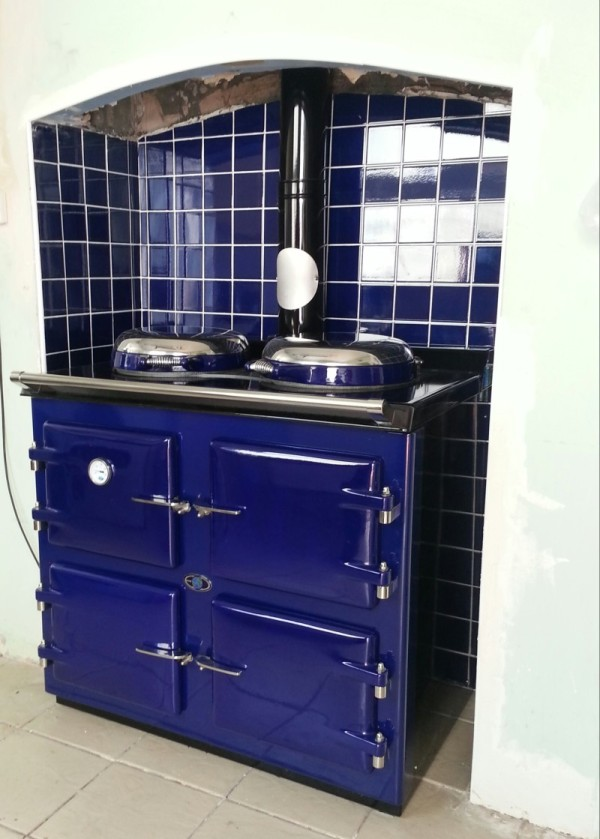 AGA Cooker, 3 oven Royal blue