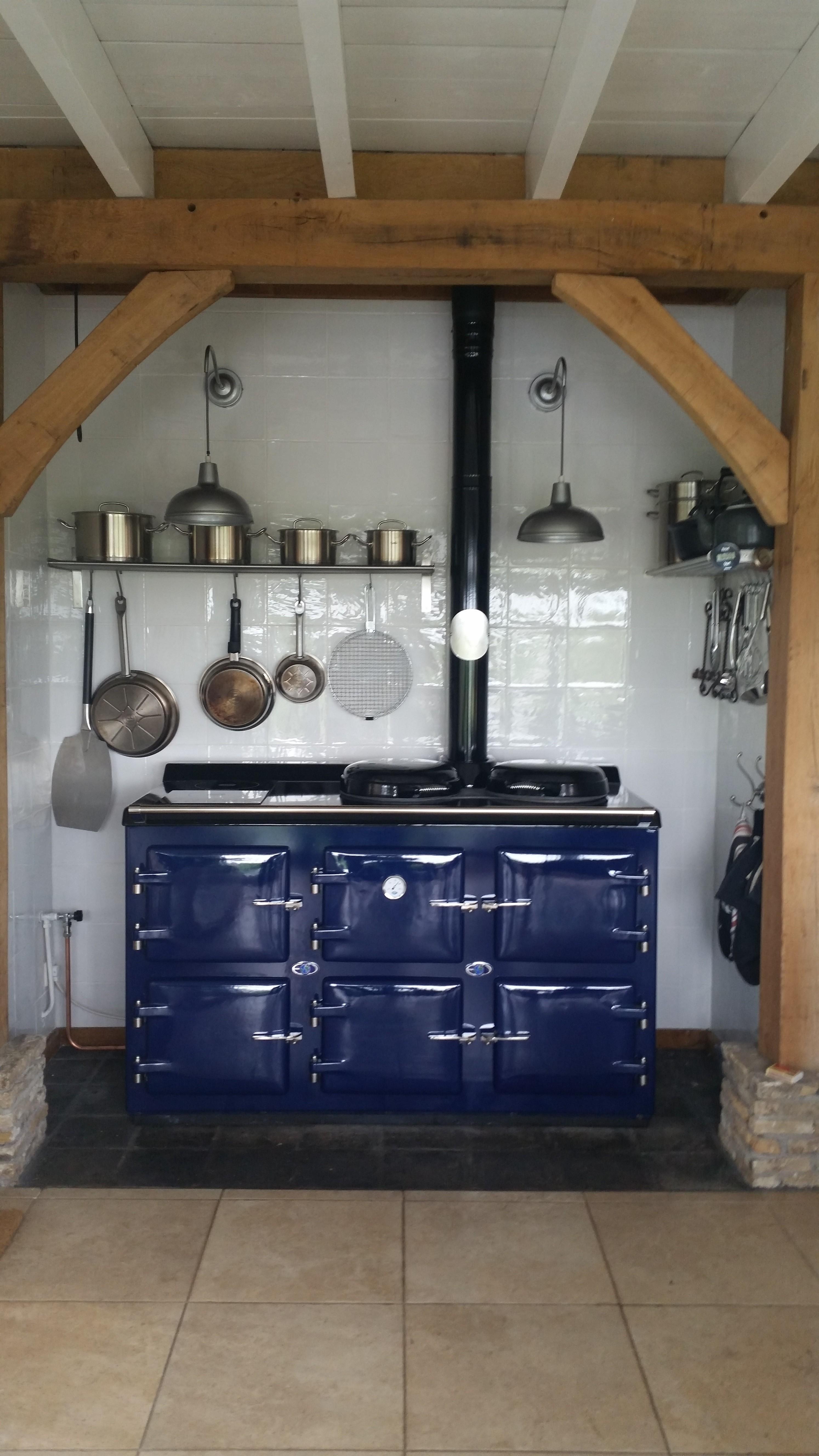 AGA blue 5 oven oil-gas