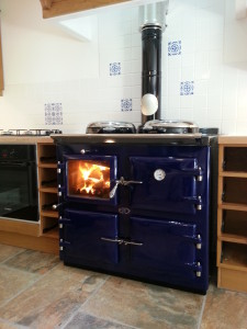 AGA wood fired cooker