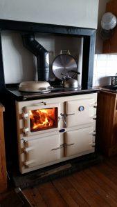 AGA wood fired cooker, Cream