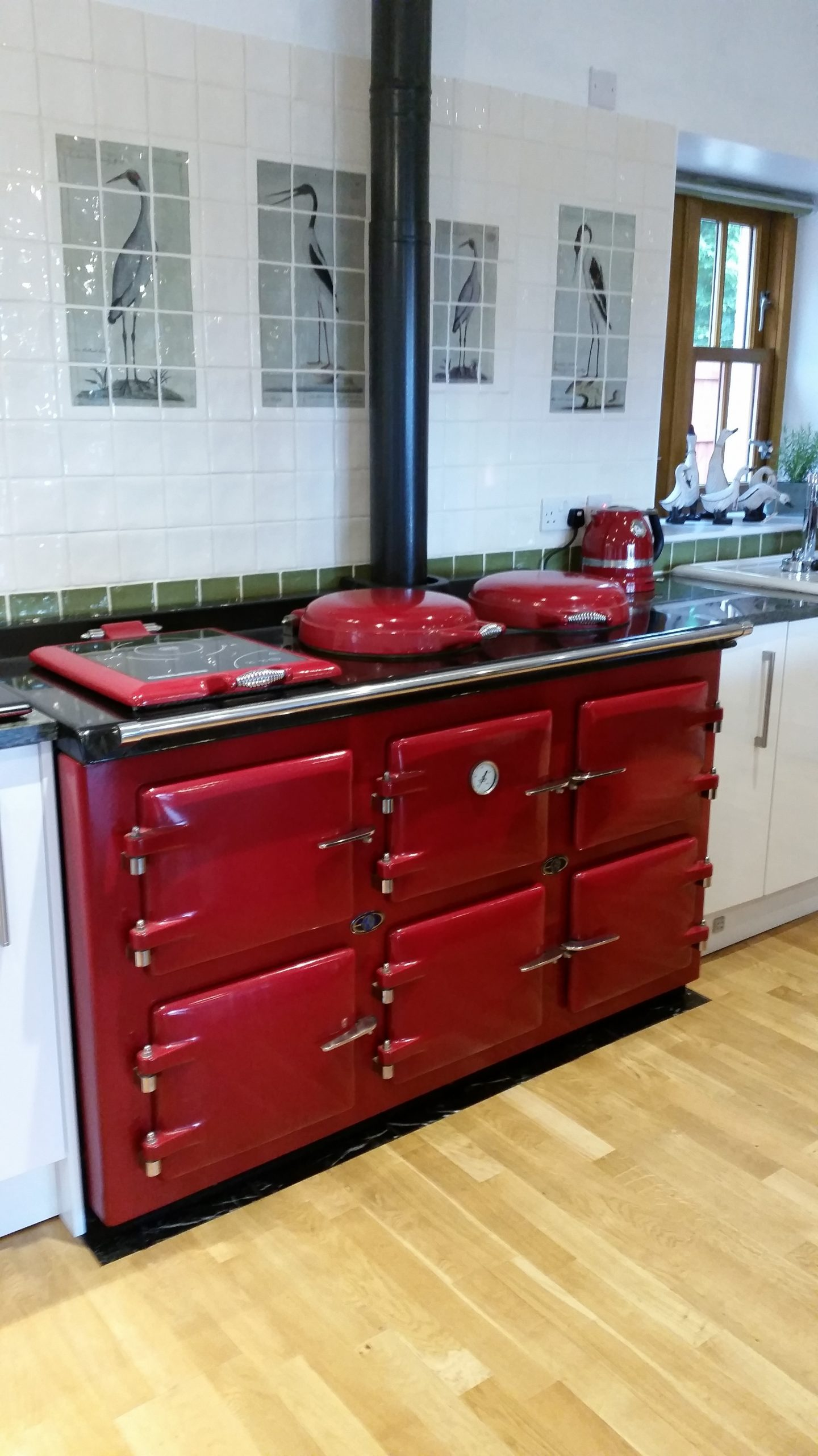 Red AGA pellet Cooker